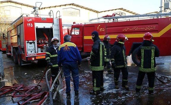 ویدئویی از  انفجار و آتش سوزی در کارخانه تاژ