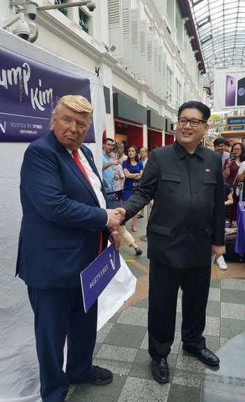 بدل های ترامپ و اون در سنگاپور سوژه خبرنگاران و سرگرمی مردم شدند