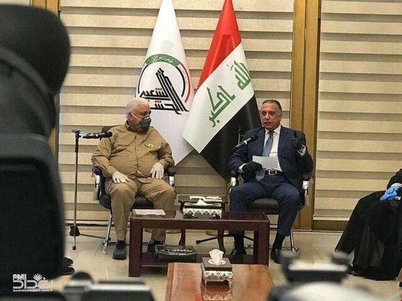 نخستوزیر جدید عراق با رئیس حشدالشعبی عراق دیدار و گفتگو کرد