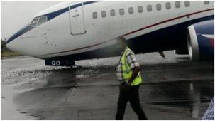 فرود اضطراری بوئینگ 737 در نیجریه