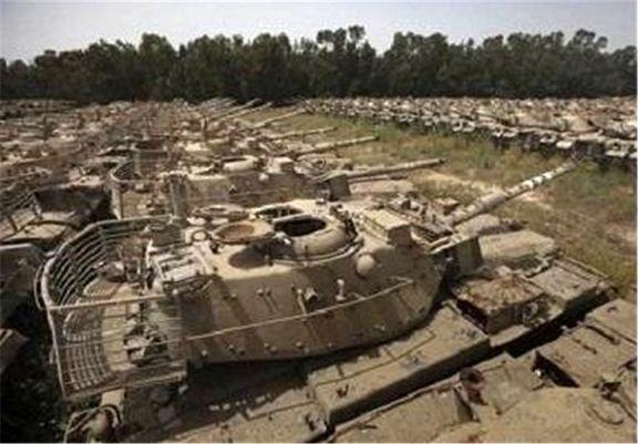 تجهیزات نظامی آمریکایی ها در مرزی بین ایران و عراق