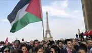 تظاهرات مردم فرانسه در اعتراض به طرح اسرائیل برای الحاق کرانه باختری
