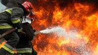 انبار لوازم خوراکی و پلاستیکی در شهر ری آتش گرفت