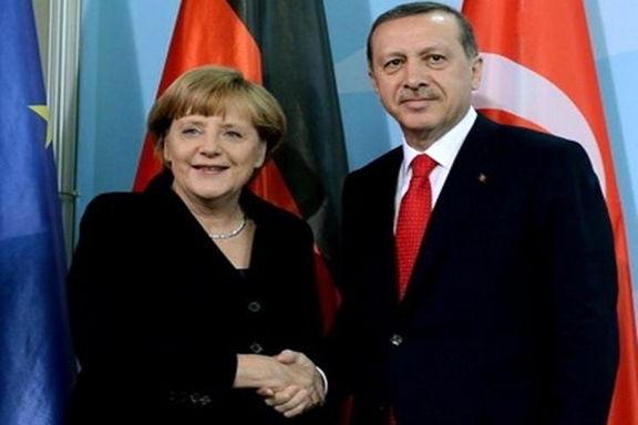اردوغان و مرکل در بروکسل باهم دیدار کردند