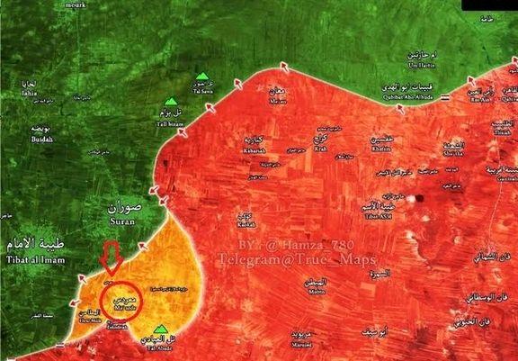 ارتش سوریه مخفی گاه تروریست ها را منهدم کرد