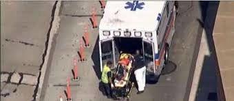 فیلم لحظه وحشتناک تصادف اتوبوس در نیویورک