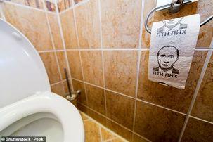تصویر پوتین روی دستمال توالت وزیر دفاع انگلیس + عکس