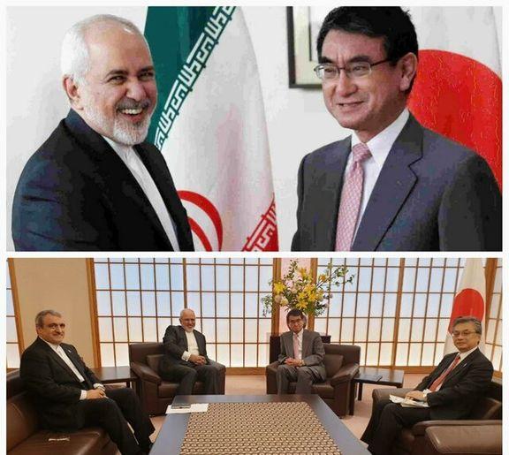 ظریف با همتای  ژاپنی خود گفتگو کرد