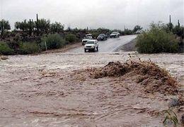 بارش های سیل آسا در بجنورد باعث ایجاد روان آب شد + فیلم