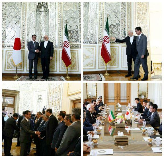 محمدجواد ظریف با وزیر امور خارجه ژاپن دیدار کرد + عکس