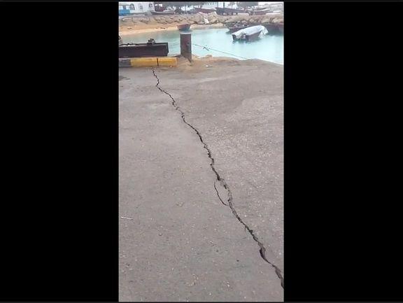 ترک خوردن اسکله لافت پس از زلزله 5.2 ریشتری + ویدئو