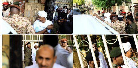 عمرالبشیر در انظار عمومی حاضر شد/انتقال عمرالبشیر به زندان مبارزه با فساد اقتصادی