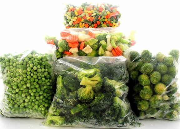 لیست قیمت انواع سبزی منجمد