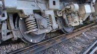 یک دستگاه واگن قطار اهواز تهران از خط ریل خارج شد