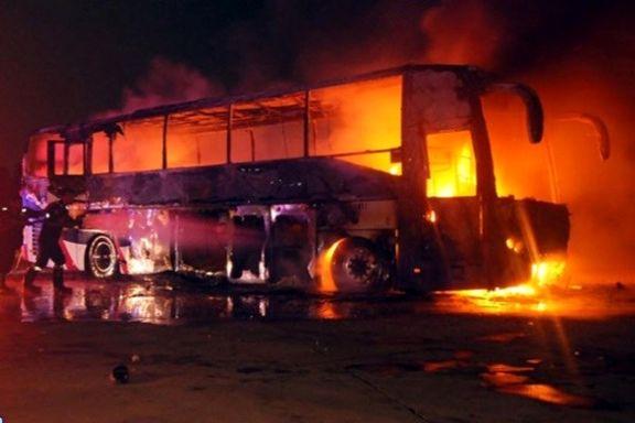 10 نفر از جانباختگان حادثه تصادف تانکر سوخت با اتوبوس در سنندج شناسایی شدند