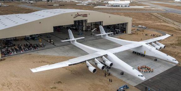 لحظه بلند شدن بزرگترین هواپیما جهان در اولین پرواز خود+فیلم