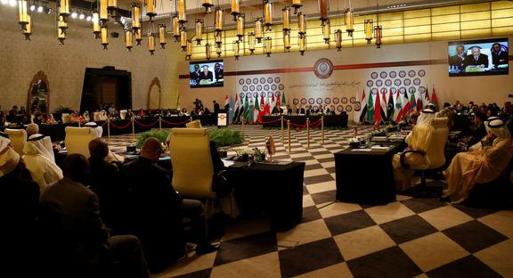 ملک سلمان در سخنرانی افتتاحیه سران اتحادیه عرب بارها به ایران اتهام زد