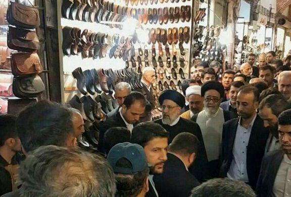 حضور رئیس قوه قضائیه در بین اصناف و کسبه ای بازار تبریز