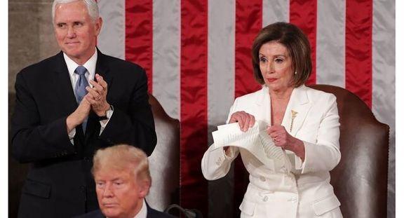 اقدام پلوسی علیه سخنرانی سالانه ترامپ در کنگره