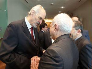 دیدار سفیر سوریه در سازمان ملل با ظریف