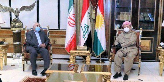 ظریف به دیدار مسعود بارزانی رفت/کردستان محلی برای تهدید ایران نیست