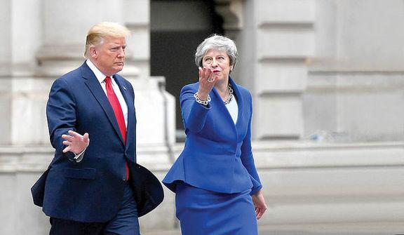 حمله شدید اللحن دونالد ترامپ به ترزا می و سفیر انگلیس در آمریکا