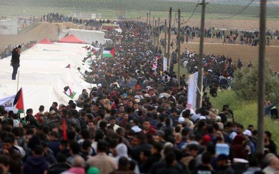 فلسطین آماده یک تظاهرات میلیونی / 11 گردان ارتش اسرائیل در نوار غزه مستقر شده است