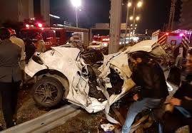 تصادف 50 خودرو در اتوبان تهران کرج/20 مصدوم در تصادف امروز