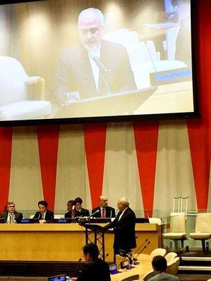 ظریف در  در نشست روز بینالمللی امحاء کامل سلاحهای هستهای سخنرانی کرد