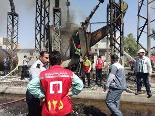 حریق نیروگاه شهید مدحج اهواز تلفات جانی نداشت