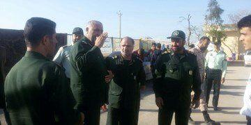 فرمانده سپاه در جمع معترضان روستای چنارمحمودی لردگان حاضر شد