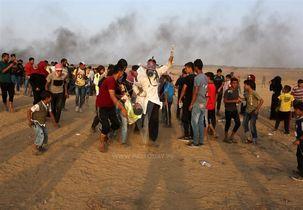 در راهپیمایی مسالمت آمیز فلسطینی ها 30 نفر زخمی شدند