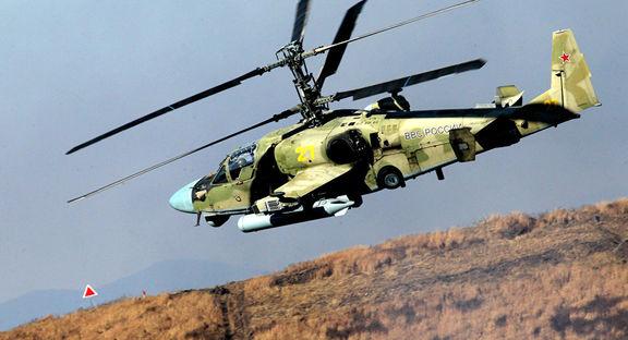 یک فروند هلیکوپتر نظامی روسیه از مدل کا – ۵۲ در شرق سوریه سقوط کرد