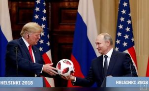 فیلم توپی که پوتین به ترامپ داد/ روسای جمهور روسیه و آمریکا در کنفرانس خبری