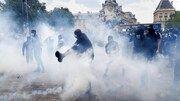 درگیری بین پلیس فرانسه و کارمندان معترض بخش بهداشت و درمان