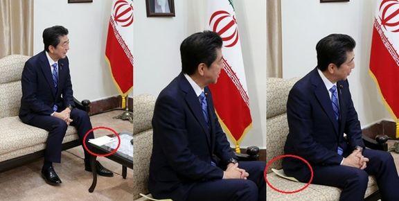عکس پاکتی که نخست وزیر ژاپن از طرف ترامپ آورده بود