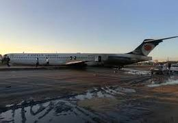هواپیمای ماهشهر تهران در اتوبان فرود آمد + فیلم