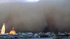 فیلم از طوفان شن در عراق که ۵ کشته و ۸۰ زخمی برجای گذاشت