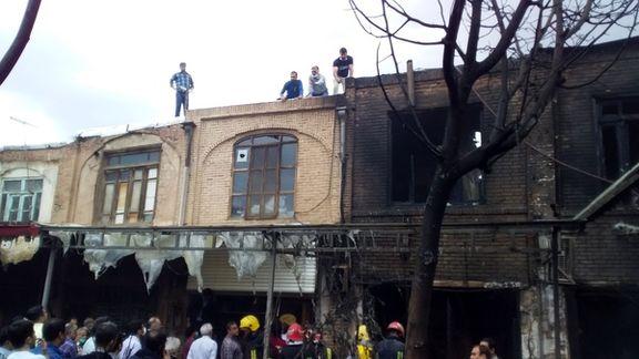 علت آتشسوزی بازار تاریخی تبریز مشخص شد