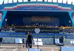 سخنرانی حسن روحانی در مراسم رژه نیروهای مسلح