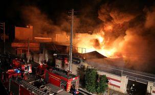 کارخانه تولید دستکش لاتکس در ارس آتش  گرفت/ 4 نفر کشته و زخمی شدند