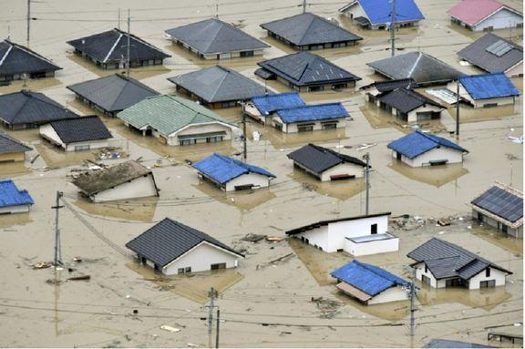 60 کشته و 50 مفقود در نتیجه سیل در ژاپن / 300 هزار نفر باید مکان های خود را تخلیه کنند