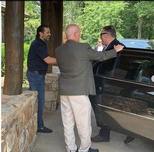 سعد حریری در مزرعهاش در واشنگتن از مایک پمپئو پذیرایی کرد