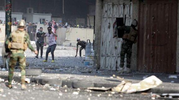 تنش ها در بغداد باعث زخمی شدن 55 سرباز شد