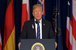 سخنرانی ترامپ به مناسبت  هفدهمین سالگرد حادثه ۱۱ سپتامبر