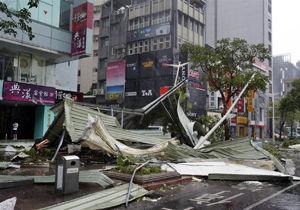 وقوع طوفان در ژاپن صدها پرواز را زمین گیر کرد