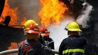 آتشسوزی گسترده واحد مسکونی در نازی آباد