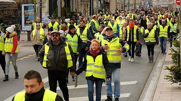 اعتراضات جلیقه زردها در خیابانهای پاریس