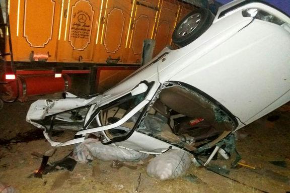 تصادف یک کامیون افغانی کش با پراید منجر به مرگ سرنشینان ماشین شد