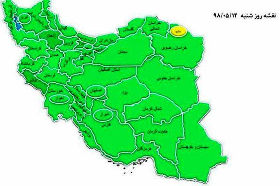 مصرف برق امروز ایران به غیر از مشهد در وضعیت سبز قرار گرفت
